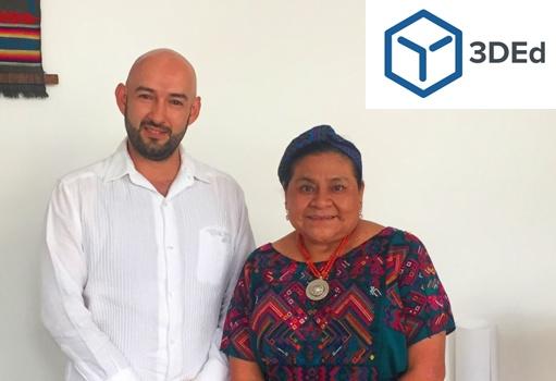 Rigoberta Menchú y 3D Education